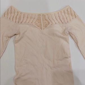 Free People cut out long sleeve off the shoulder